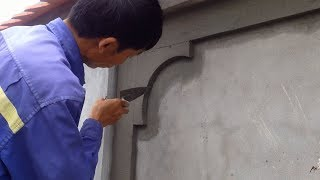 Amazing Construction skills - Wall Rendering Using Sand And Cement - Creative Style Builder