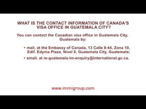 What is the contact information of Canada's visa office in Guatemala City?