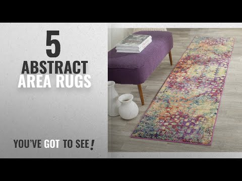 Top 10 Abstract Area Rugs [2018 ]: Safavieh Monaco Collection MNC225D Modern Abstract Watercolor