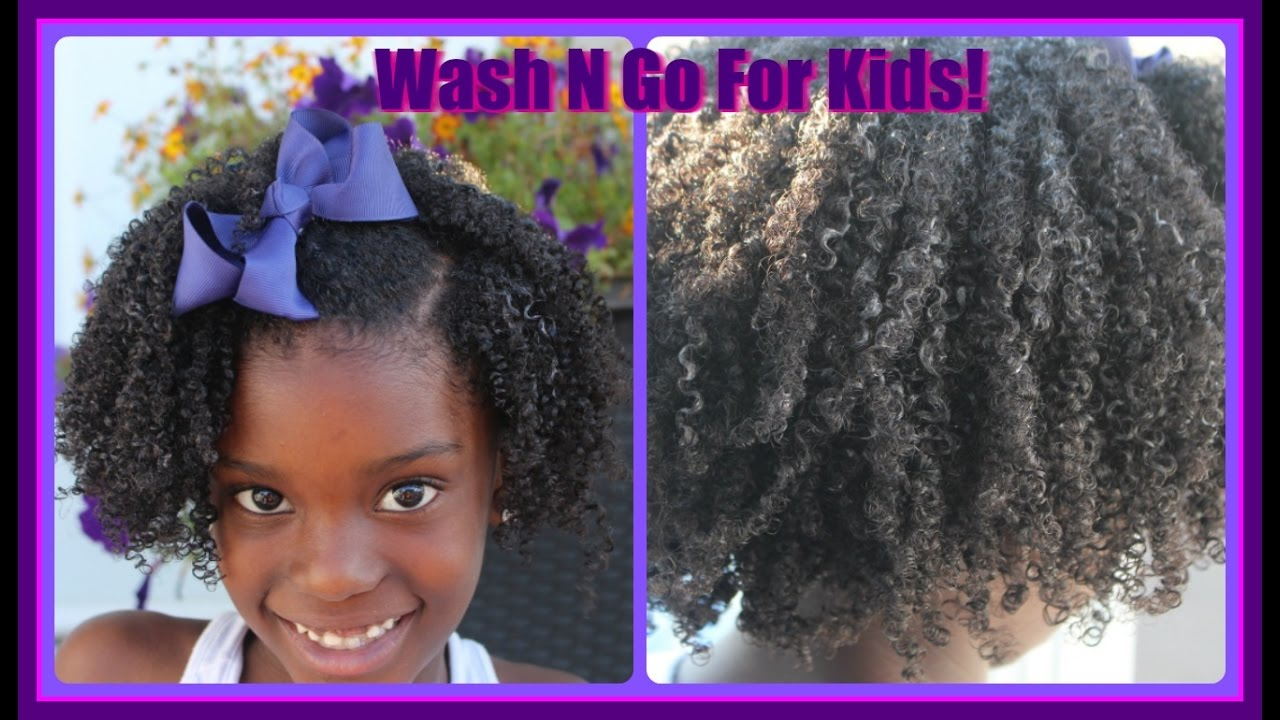 little black girls hairstyles/ Wash and Go On Kids hair
