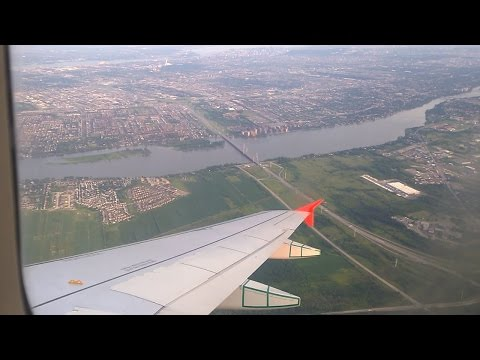 A319 landing to YUL airport in Montreal, Canada - HD available