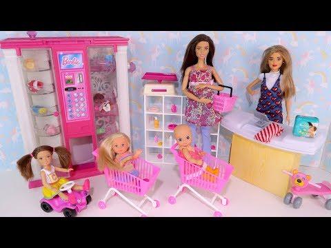В ДЕТСКИЙ МИР ЗА ПОЛЗУНКАМИ! Мультик #Барби Беременная Мама Куклы для девочек