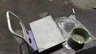 징검다리 콘크리트 돌 만들기2-자갈씻기. 압착세멘트 만들기