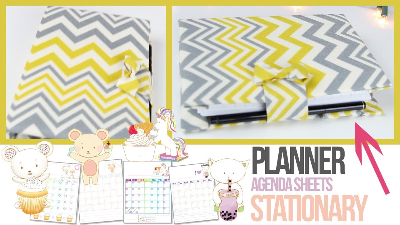 Agenda tutorial planner stationery how to make your for Create custom planner