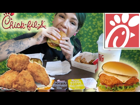 TASTING CHICK FIL A FOR THE FIRST TIME EVER MUKBANG!!