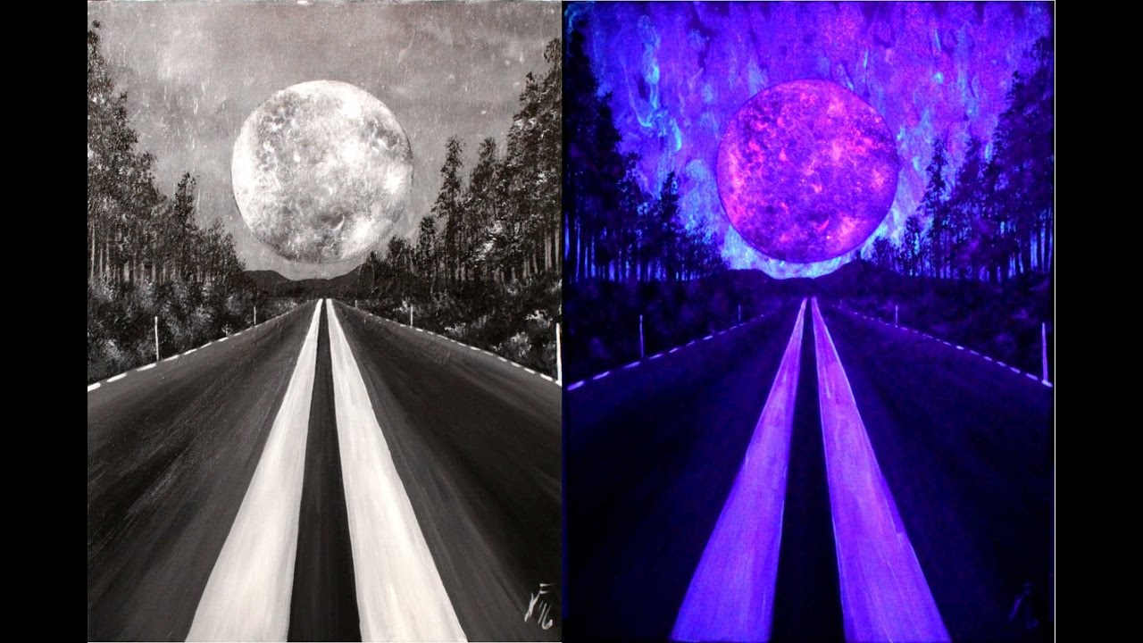 Journey To The Moon Step By Step Acrylic Painting On