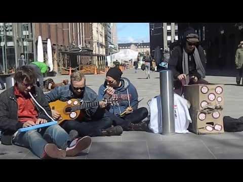Street Music Performer in Helsinki, Finland