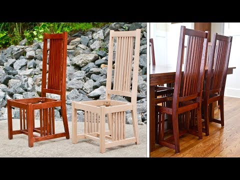 How To Build A Dining Chair Part 1 | Mission Style / Arts and Crafts Style Woodworking