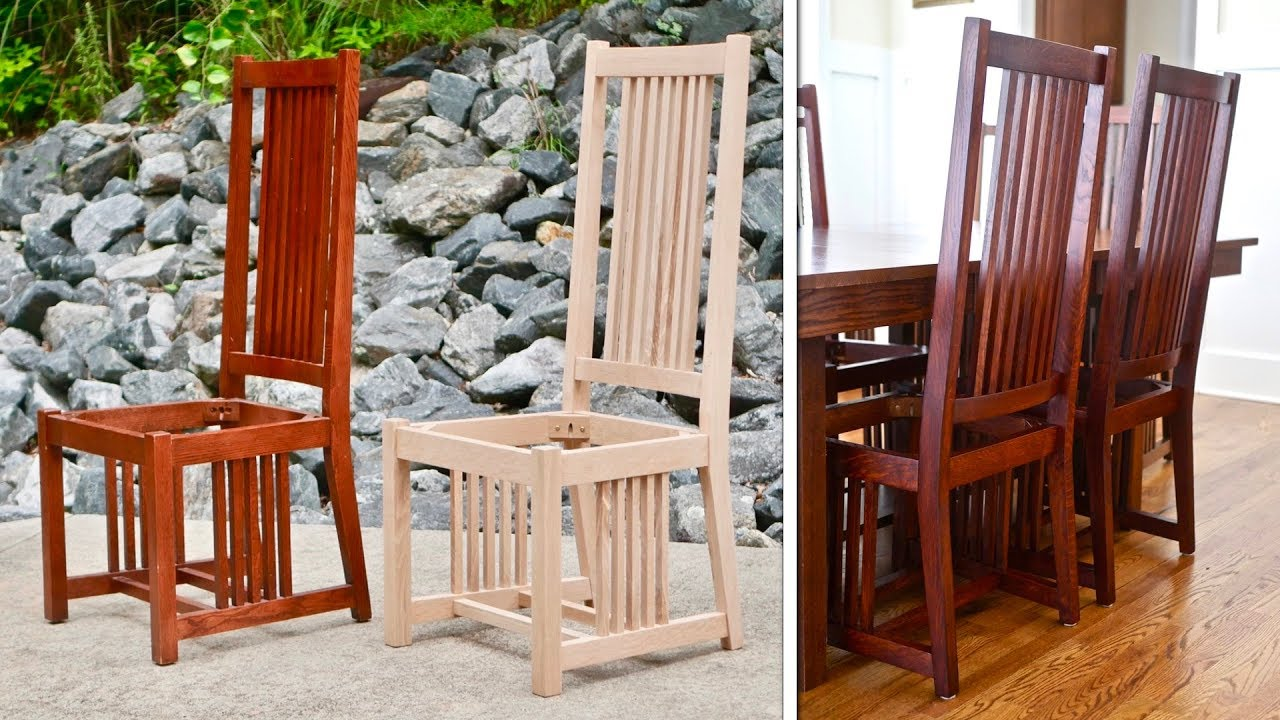 craftsman style chairs swivel chair jiji mission dining how to build part 1 arts and crafts woodworking