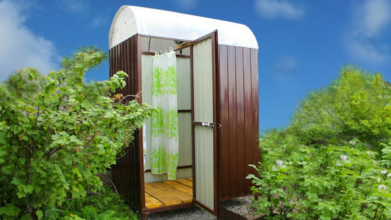 ЛЕТНИЙ ДУШ НА ДАЧЕ СВОИМИ РУКАМИ. How to build outdoor shower.