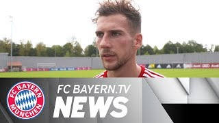 Leon Goretzka prior to start of FC Bayern