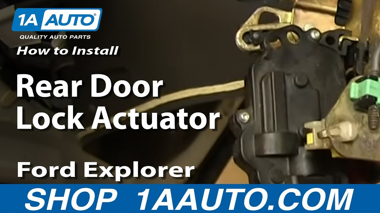 how to install rear door lock actuator 2002