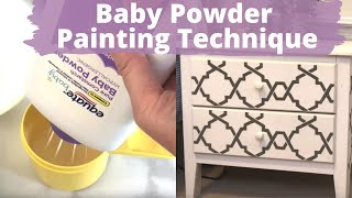 Mix baby powder and Elmer's glue with paint for this gorgeous technique! | Hometalk