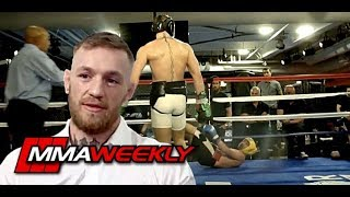 Conor McGregor Comments on Paulie Malignaggi - Includes Knockdown Footage