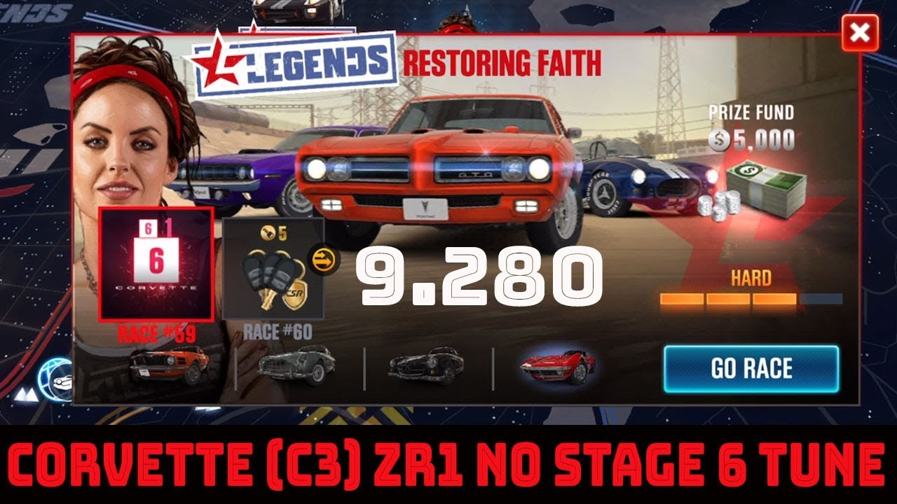 Complete Race 59 Of Restoration Faith With The Corvette C3 *Stage 5 Only* |  CSR Racing 2