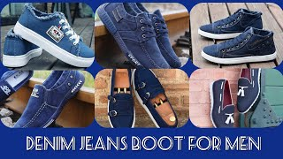 Latest Denim Jeans Sneakers /Boot for Men in my latest fashion beauty