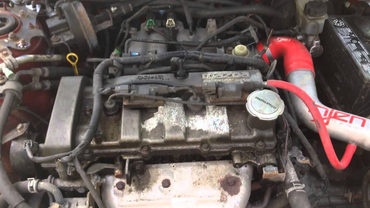 e2ma210 2002 mazda protege 2 0 5 spd engine test youtube