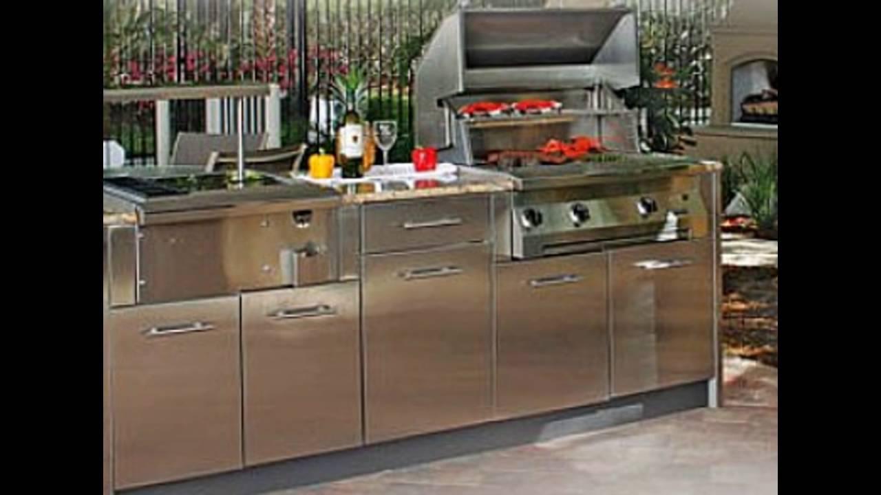 stainless steel outdoor kitchen doors - YouTube