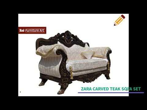 Carved Teak Wood Sofa Set Suppliers | Wooden Carved Sofa Set Manufacturers  Delhi