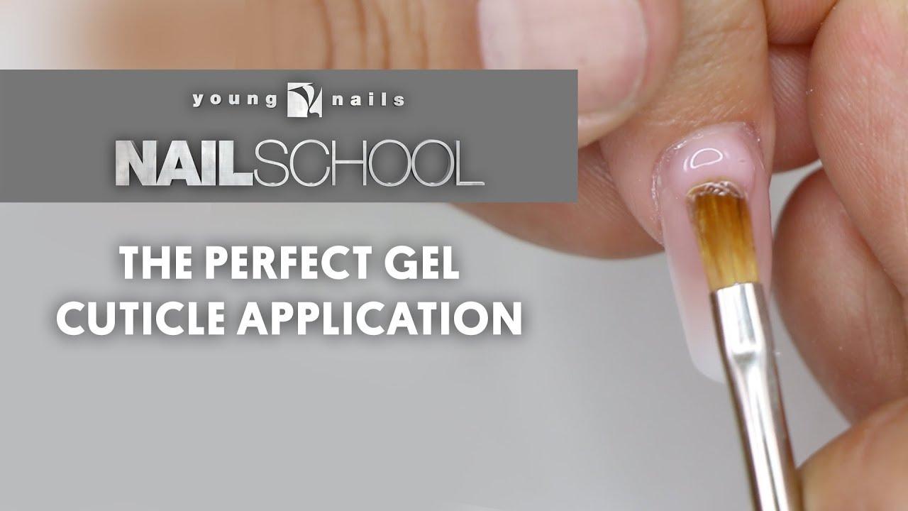YN NAIL SCHOOL - THE PERFECT GEL CUTICLE APPLICATION
