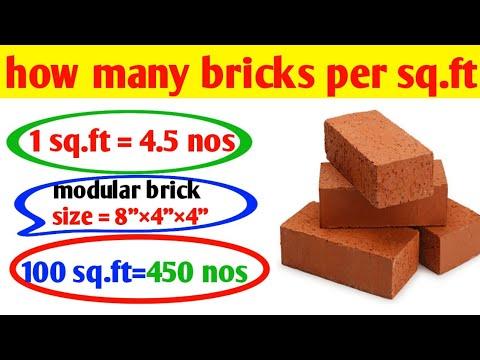 Calculate Bricks Per Square Foot