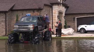 Angels in mega trucks: drivers join rescue in storm-hit Texas