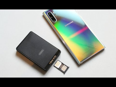 Galaxy Note 10+ With 2, 3 Or 4 Active Numbers Using SIMore E-Clips Gold Dual / Triple SIM Adapter