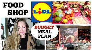 LIDL FOOD SHOP / BUDGET LARGE FAMILY & MEAL PLAN /Deluxe Christmas Range, meal ideas