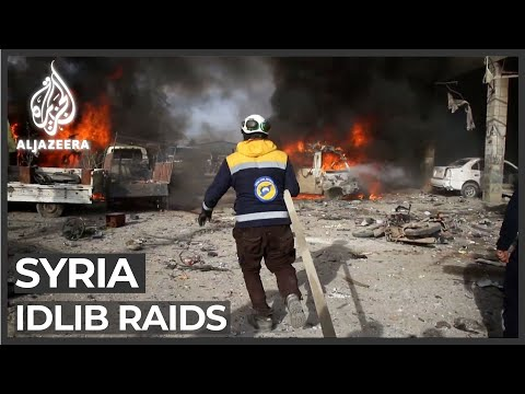 More Than 20 Killed In Air Raids On Towns In Syria's Idlib
