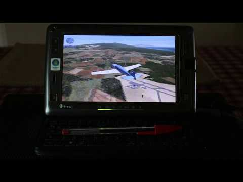 HTC Shift X9500 UMPC running Microsoft Flight Simulator X FSX