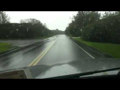 Paso de huracan Irene a Bridgehampton NY