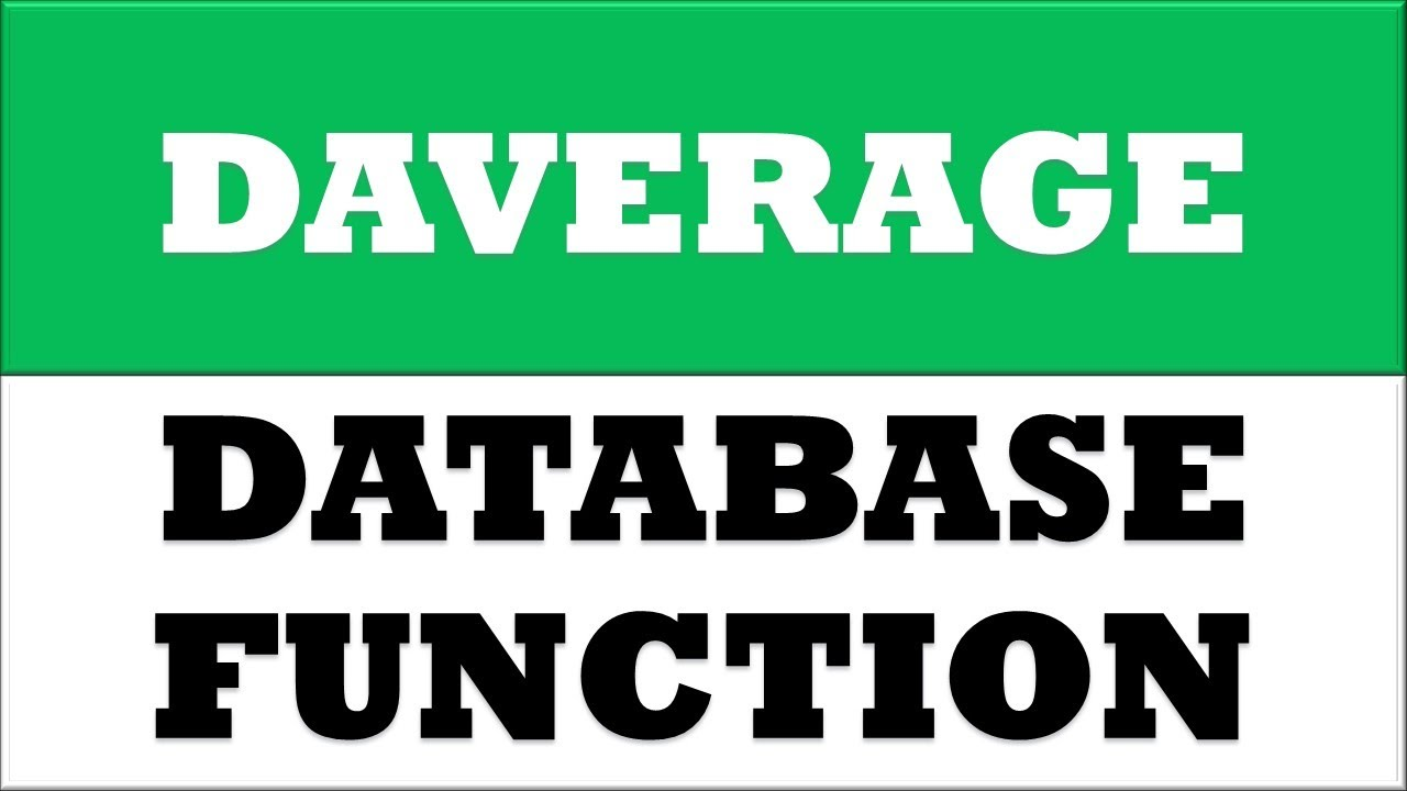 How To Calculate Category Average From Database Range In Ms Excel 2016   Daverge Formula