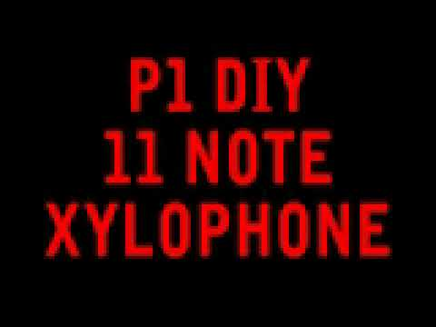 Scale played on a DIY 11- note Orff Xylophone