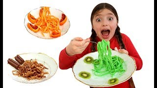 Dominika Cooks and Eats Black Chocolate Noodles and Colorful Noodle Food