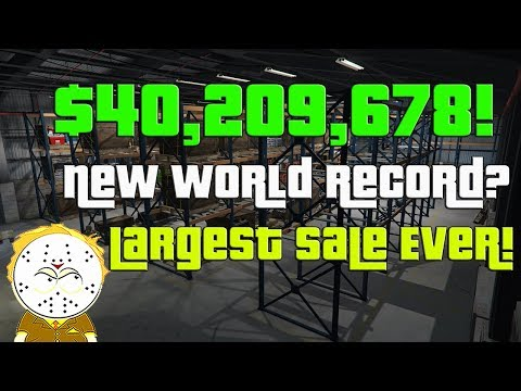 GTA Online Largest Sale Ever, $40,209,678 One Day! New World Record? Selling Everything CEO, MC