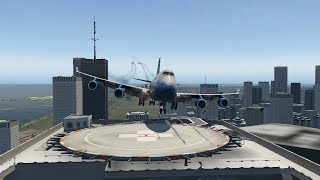 big-planes-touch-and-go-on-tower-roof-xp11
