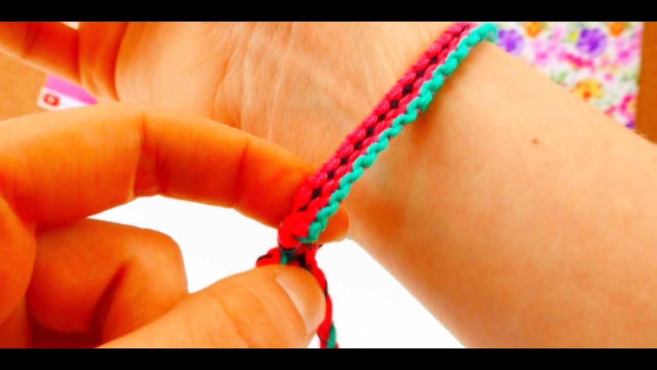 DIY Friendship Bracelet / Freundschaftsarmband Melone Muster How To ...