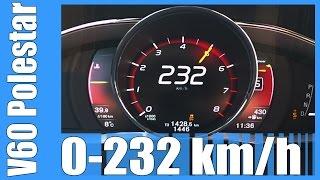 350 hp volvo v60 polestar acceleration test fast 0 232 km h launch control beschleunigung autobahn