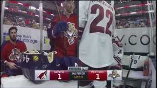 Keith Yandle high hit on Brandon Pirri