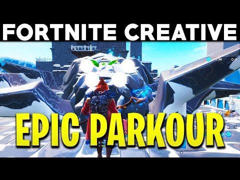 Fortnite EPIC PARKOUR! - Kingdom of Stone Parkour! (Fortnite Creative)