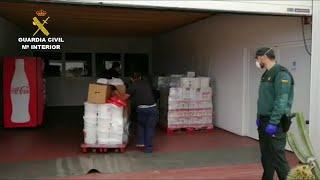 Guardia Civil de Las Palmas colabora en la gestión del excedente de comida
