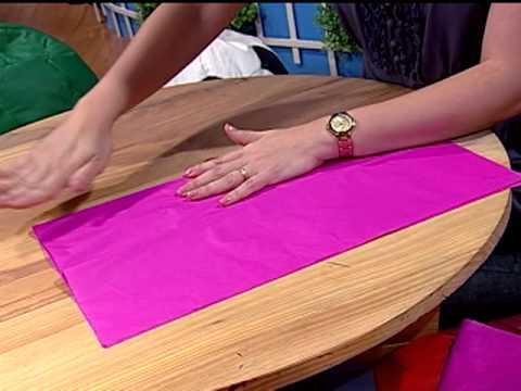 Cuaderno de recetas 2 2 pompones de papel de seda youtube - Como hacer pompones ...