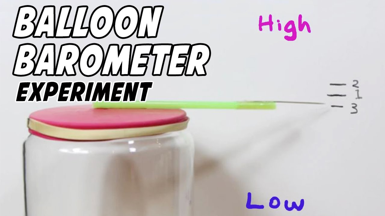 Easiest way to make a barometer