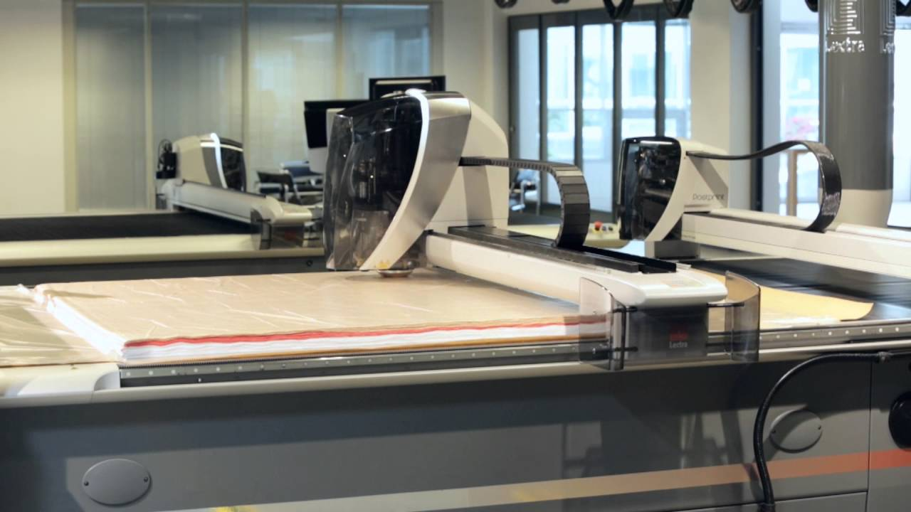 Video of Cutting room Process by Lectra Vector cutter ...