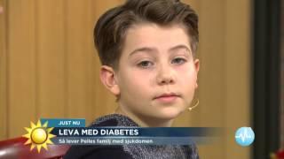 Pelle 11 år lever med diabetes - Nyhetsmorgon (TV4)