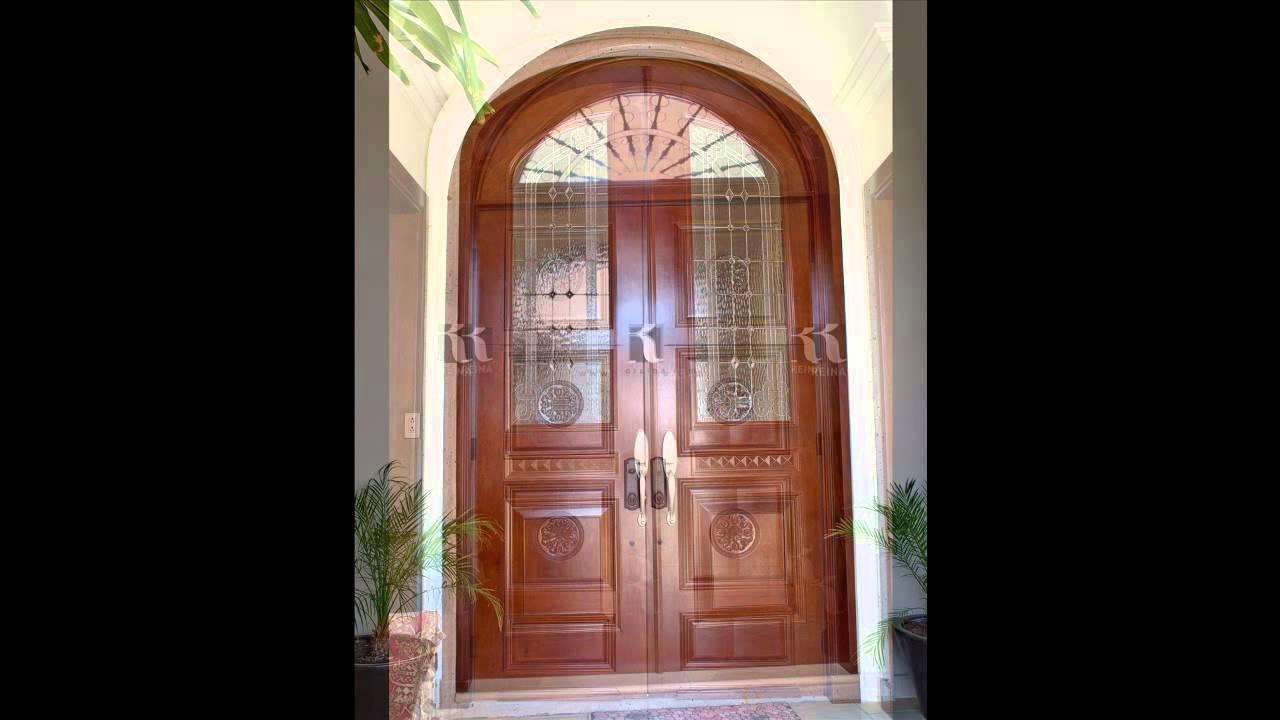 Puertas dreina puertas en monterrey youtube for Puertas de madera con herreria