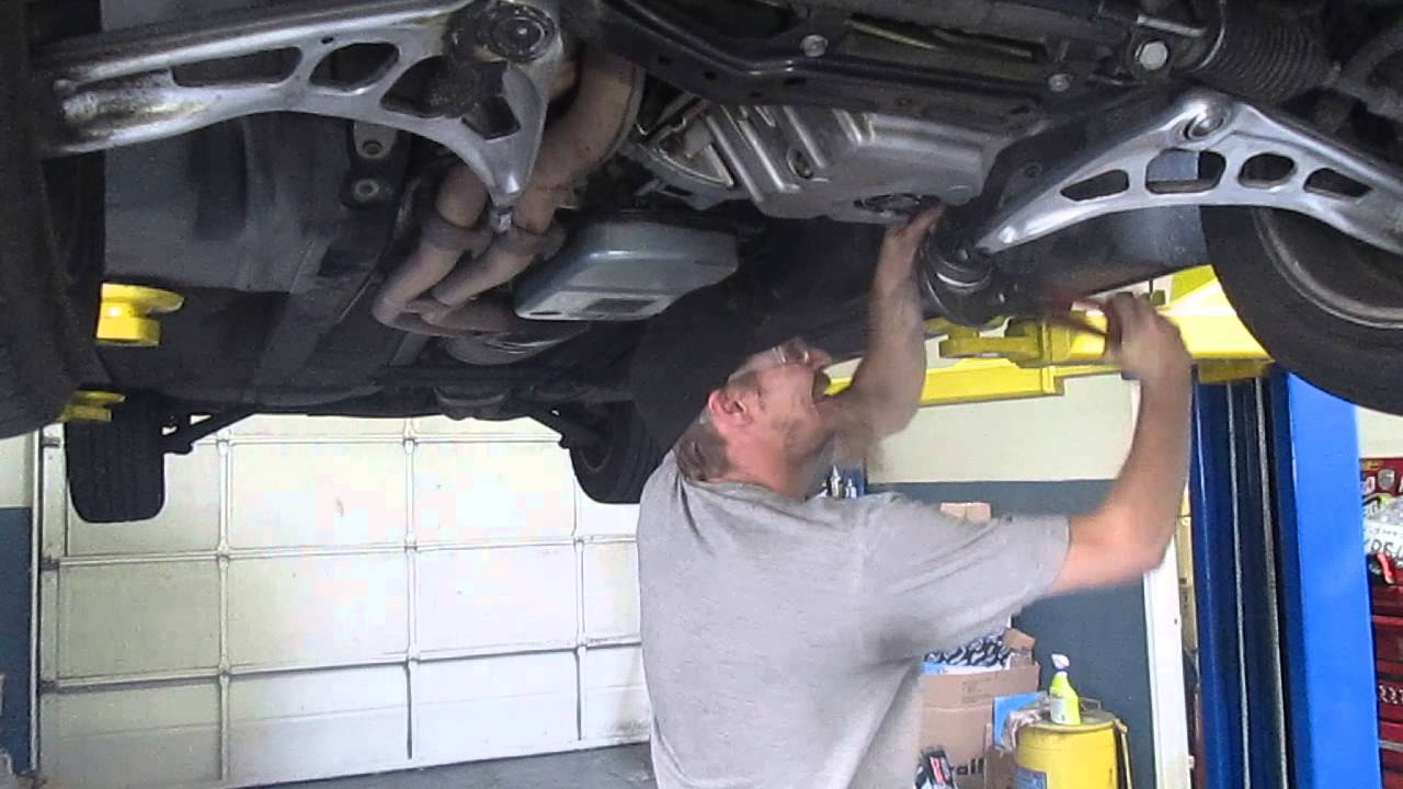 how to change bmw e46 lower control arm bushings in 10min