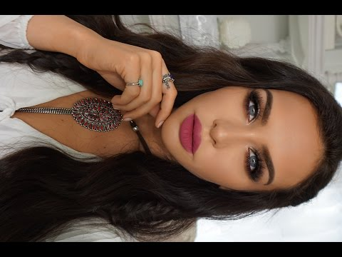 BOHO CHIC Makeup & Hair Tutorial | Carli Bybel