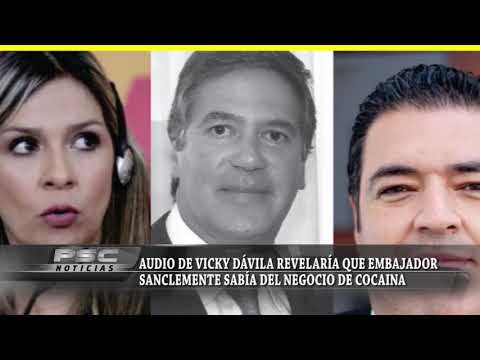 Audio de Vicky Dávila revelaría que embajador Sanclemente sabía del negocio de cocaína en su finca