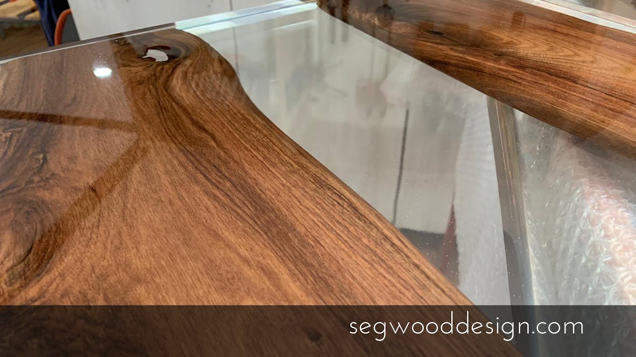 Walnut Coffee Table 1 Pour Epoxy Crystal Clear Youtube